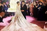 Con gái tài phiệt Nga mặc váy nửa triệu đô trong lễ cưới xa hoa