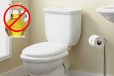 Hậu quả khi bạn đổ thức ăn thừa vào toilet