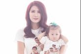 Trang Trần mặc áo đôi chụp ảnh cùng con gái yêu
