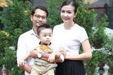 Vợ chồng Huỳnh Đông đưa con trai kháu khỉnh đi sự kiện