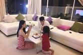 Con gái Bánh Gạo thổi nến sinh nhật cùng Công Vinh