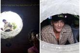 Cảnh sống đối lập của 2 gia đình nghèo làm nhà trong ống cống