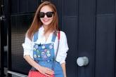 Minh Hằng ăn gian tuổi với váy áo đính sticker