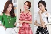 12 mẫu váy áo rớt vai đốn tim nàng công sở mùa hè thu 2016