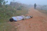 Phát hiện thi thể nam giới gục trên vũng máu cạnh nghĩa trang