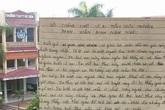 """Vụ học sinh bị đình chỉ vì """"tè bậy"""": Xuất hiện một bức thư... tuyệt mệnh"""