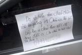 Cảm động chuyện nam sinh Hải Phòng làm vỡ gương ô tô và để lại lời xin lỗi