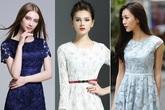 Váy ren liền thân – món đồ không thể thiếu của nàng công sở mùa thu này
