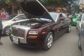 Xe Rolls-Royce Ghost của đại gia Thái Bình chết máy giữa đường