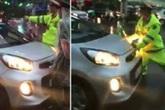 Lời khai của tài xế taxi cản trở đoàn xe ưu tiên, húc cảnh sát rồi bỏ chạy