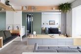 Căn hộ 38 m2 nhìn rộng hơn với nội thất gộp thành nhiều khối