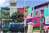 Ngôi nhà 7 sắc cầu vồng nổi bật giữa trung tâm thủ đô Hà Nội