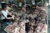 Hải Phòng: Nỗi lòng của người phụ nữ bị hất dầu luyn trộn chất thải vào gần 100 kg thịt lợn