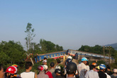Tàu hỏa Bắc Nam bị lật tại Huế, nhiều người thương vong