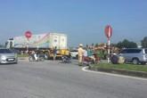 Thái Bình: Bị xe container đâm trúng, người vợ ngồi sau chết thảm