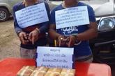 Bắt giữ 2 đối tượng người Lào mang ma túy số lượng lớn qua biên giới
