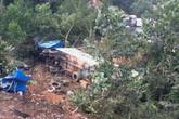 Quảng Ninh: Xe container lao xuống vực, tài xế thoát chết