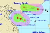 Xuất hiện 2 cơn bão cùng lúc trên Biển Đông