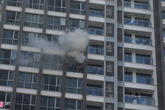 Cháy căn hộ tầng 11 ở Vinhomes Central Park