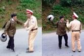 Xử lý người đàn ông cầm mũ bảo hiểm doạ đánh CSGT