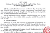 """Chủ tịch phường Xuân Đỉnh """"dính"""" hàng loạt sai phạm"""