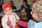 Hình ảnh mới nhất của bé sơ sinh bị bỏ rơi trước chùa Phúc Linh