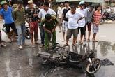 Hải Dương: Xe máy phát nổ, ba người thoát chết trong gang tấc