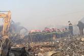 Phát hiện một thi thể công nhân mắc kẹt trong đám cháy nhà máy Tràng An