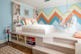 """Thiết kế giường giật cấp giúp phòng ngủ nhỏ đẹp """"miễn chê"""""""
