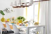 Muốn có một phòng ăn trang nhã bạn đừng bỏ qua bàn ăn màu trắng