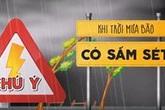 Những việc không nên làm khi trời mưa bão
