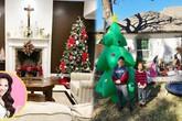 Nhà vườn rộng rãi tràn ngập không khí Giáng sinh của ca sĩ Hồng Ngọc tại Mỹ