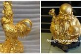 Hai tượng 'vàng' nhặt được có phải là vàng thật?