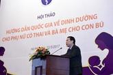 Bộ Y tế ban hành Hướng dẫn Quốc gia về Dinh dưỡng cho Phụ nữ có thai và Bà mẹ cho con bú