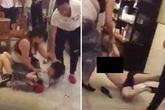 Vợ đánh đập, lột đồ nhân tình của chồng trong quán Starbucks