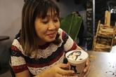 Nở rộ dịch vụ in hình chân dung lên ly cà phê