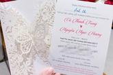Lộ thiệp cưới của MC Thành Trung và vợ 9X