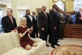 Khoảnh khắc ấn tượng của các nữ chính trị gia tóc vàng