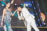 Rocker Nguyễn bất ngờ hôn tay Lan Khuê trên sân khấu