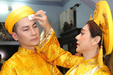 Lâm Khánh Chi được nhà chồng cho cả mâm vàng cưới