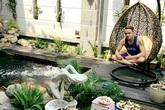 Khu vườn bạc tỷ trong căn biệt thự 300m2 giữa Sài Gòn của Cao Thái Sơn
