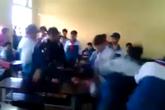 Nam Định: Xôn xao clip học sinh đánh bạn dã man trong lớp