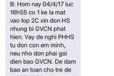 Trường Tiểu học Thanh Liệt: Cảnh báo phụ huynh về đối tượng lạ mặt vào xin đón học sinh