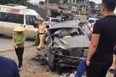 Quảng Ninh: Ô tô mất lái đâm vào xe chở cựu chiến binh