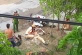 Chiến sỹ CSGT bị xe máy kẹp 3 tông trọng thương