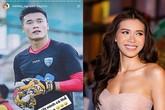 Sau loạt ồn ào, thủ môn Bùi Tiến Dũng đã bỏ theo dõi siêu mẫu Minh Tú trên Instagram