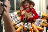 Hoa hậu H'Hen Niê gây sốc khi 'đắp' toàn bánh mì lên người để đi thi Miss Universe 2018