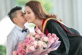 Chồng của Á hậu Thụy Vân đưa đón vợ đi học suốt 2 năm học cao học