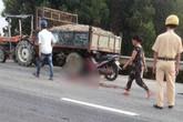 Cha cùng con gái 4 tuổi tử vong sau cú tông vào đuôi máy cày