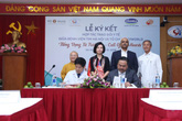 """Lễ ký kết hợp tác trao đổi y tế giữa MD1WORLD và bệnh viện tim Hà Nội - Chương trình """"Tiếng vọng từ trái tim """""""